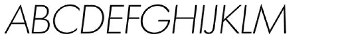 Futura TS ExtraLight Italic Font UPPERCASE