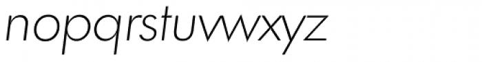 Futura TS ExtraLight Italic Font LOWERCASE