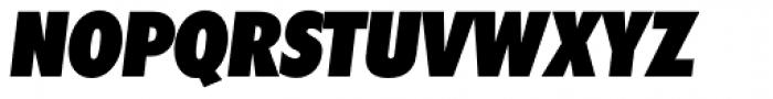 Futura TS Heavy Cond Italic Font UPPERCASE
