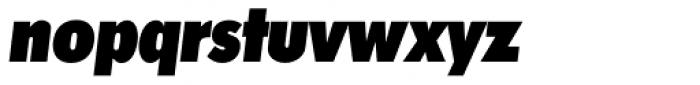 Futura TS Heavy Cond Italic Font LOWERCASE