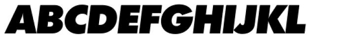 Futura TS Heavy Italic Font UPPERCASE