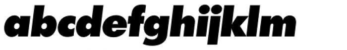 Futura TS Heavy Italic Font LOWERCASE