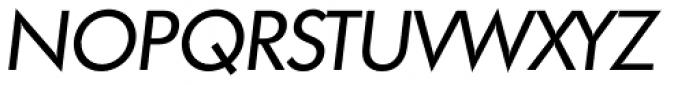 Futura TS Italic Font UPPERCASE