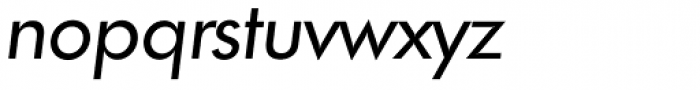 Futura TS Italic Font LOWERCASE