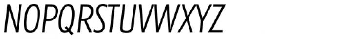 Futura TS Light Cond Italic Font UPPERCASE