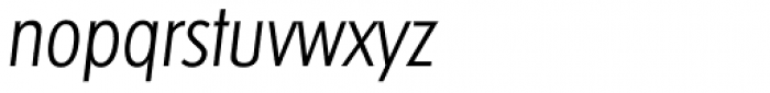 Futura TS Light Cond Italic Font LOWERCASE