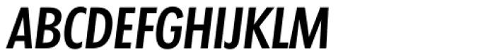 Futura TS Medium Cond Italic Font UPPERCASE