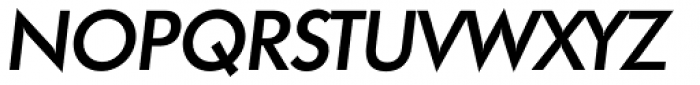 Futura TS Medium Italic Font UPPERCASE