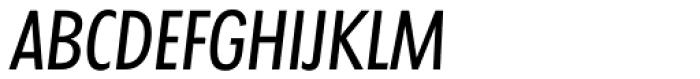Futura TS Regular Cond Italic Font UPPERCASE