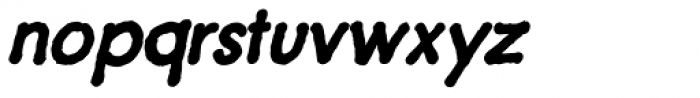 Futuramano Bold Italic Font LOWERCASE