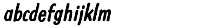 Futuramano Cond Bold Italic Font LOWERCASE