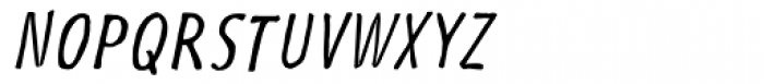 Futuramano Cond Light Italic Font UPPERCASE