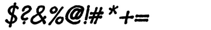 Futuramano Italic Font OTHER CHARS