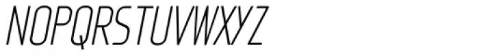 Fux Light Italic Font UPPERCASE