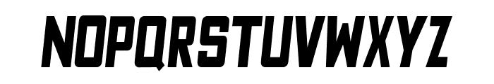 Fyodor Bold Condensed Oblique Font LOWERCASE