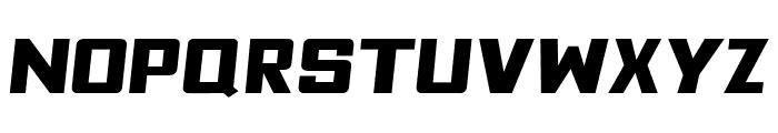Fyodor Bold Expanded Oblique Font UPPERCASE