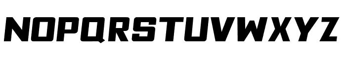 Fyodor Bold Expanded Oblique Font LOWERCASE