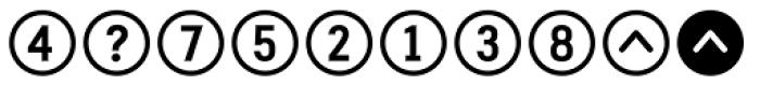 Fyra Alpha Circle Bold Font OTHER CHARS