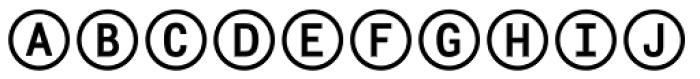 Fyra Alpha Circle Bold Font UPPERCASE