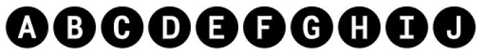 Fyra Alpha Circle Bold Font LOWERCASE
