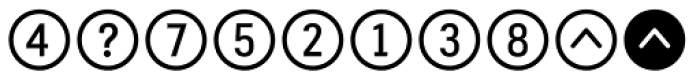 Fyra Alpha Circle Font OTHER CHARS
