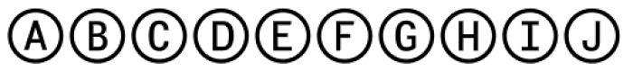 Fyra Alpha Circle Font UPPERCASE