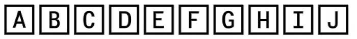 Fyra Alpha Square Font UPPERCASE