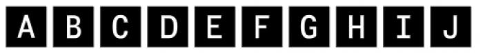 Fyra Alpha Square Font LOWERCASE