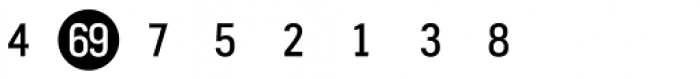 Fyra Numeric Circle Closed Font OTHER CHARS