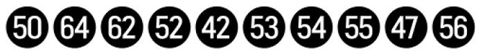 Fyra Numeric Circle Closed Font UPPERCASE