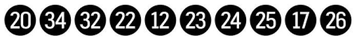 Fyra Numeric Circle Closed Font LOWERCASE