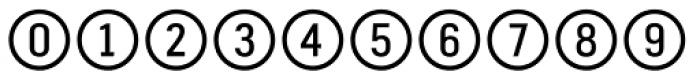 Fyra Numeric Circle Open Font OTHER CHARS