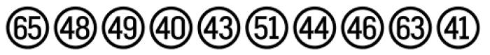 Fyra Numeric Circle Open Font UPPERCASE