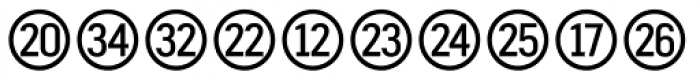 Fyra Numeric Circle Open Font LOWERCASE