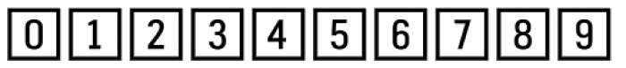 Fyra Numeric Square Open Font OTHER CHARS
