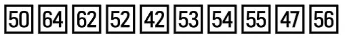 Fyra Numeric Square Open Font UPPERCASE