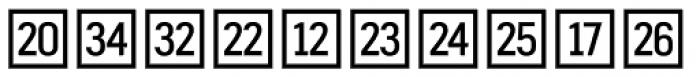 Fyra Numeric Square Open Font LOWERCASE