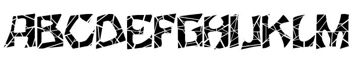 FZ JAZZY 12 CRACKED Font UPPERCASE
