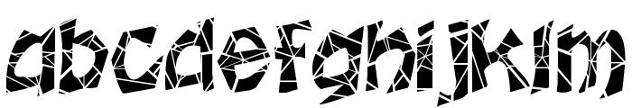 FZ JAZZY 12 CRACKED Font LOWERCASE