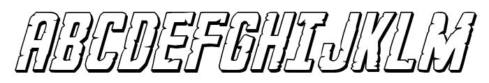 G.I. Incognito 3D Italic Font UPPERCASE