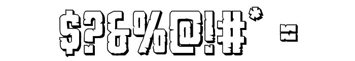 G.I. Incognito 3D Regular Font OTHER CHARS