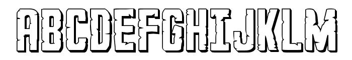 G.I. Incognito 3D Regular Font UPPERCASE