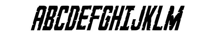 G.I. Incognito Condensed Italic Font UPPERCASE