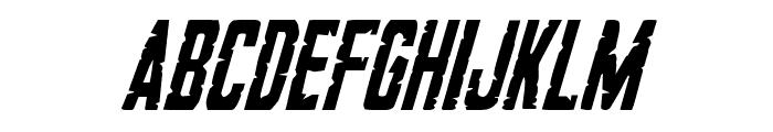 G.I. Incognito Condensed Italic Font LOWERCASE