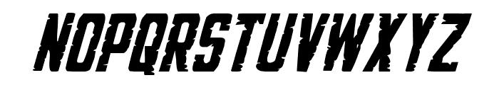 G.I. Incognito Italic Font UPPERCASE