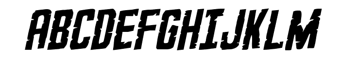 G.I. Incognito Rotalic Font UPPERCASE