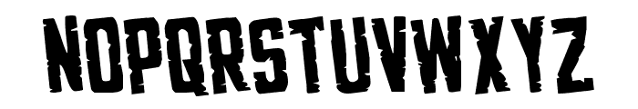 G.I. Incognito Rotated Regular Font UPPERCASE