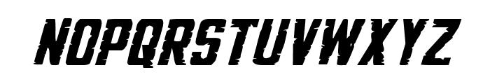 G.I. Incognito Small Italic Font UPPERCASE