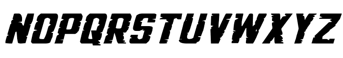 G.I. Incognito Squat Italic Font LOWERCASE
