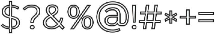 GANTIC Outlines ttf (400) Font OTHER CHARS